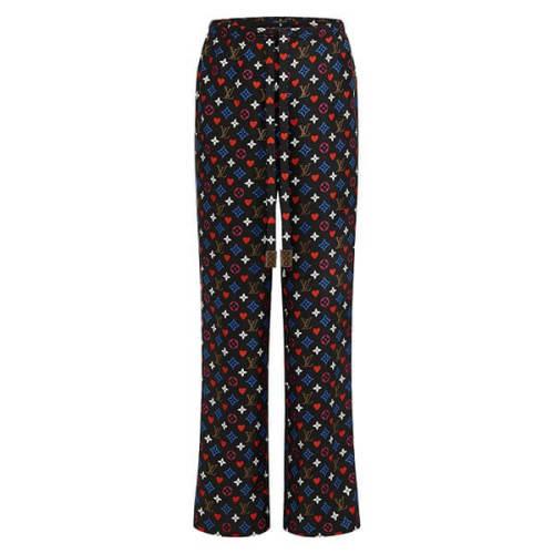 新作【ルイヴィトン】◆コントラストトリム パジャマパンツ◆コピー