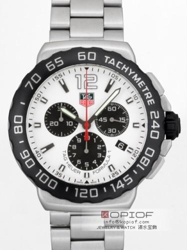 タグホイヤー フォーミュラー1 スーパーコピーCAU1111.BA0858 クロノグラフ ホワイト/ブラック