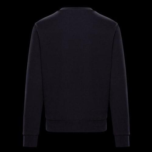 モンクレール t シャツ コピー Moncler スウェットシャツメンズライン ダークブルー 胸ワッペン 2020春夏新作コレクション