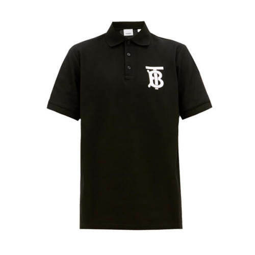BURBERRY TB バーバリー ポロシャツ コピー コットン ブラック 人気