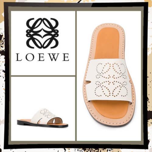 【LOEWE】【雑誌掲載】20SS★ロエベ シューズ コピー アナグラム ミュール light camel 453.10.860 2100