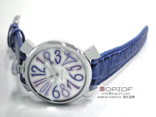 ガガミラノ マヌアーレ40MM スーパーコピー5020.3 ブルー皮 ホワイトシェル/ブルーカラーアラビア