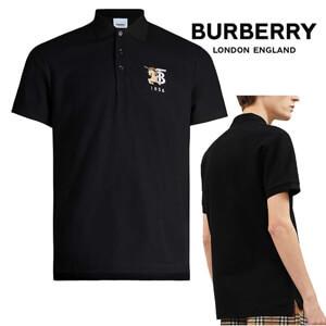 【BURBERRY】バーバリー ポロシャツ コピー ロゴ刺繍 コットン