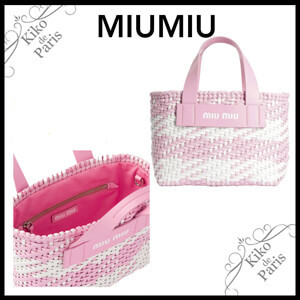 MiuMiu 可愛い!ミュウミュウ 籠バック コピー レザーUJ2 ROSA