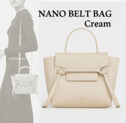 2020新作限定人気 セリーヌコピー CELINE Nano Belt Bag ナノ ベルト バッグ 189003ZVA.01CR クリーム