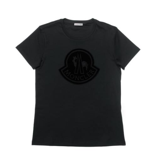 モンクレール MONCLER Tシャツ コピー レディース 8059200 8391N 999 半袖Tシャツ BLACK ブラック