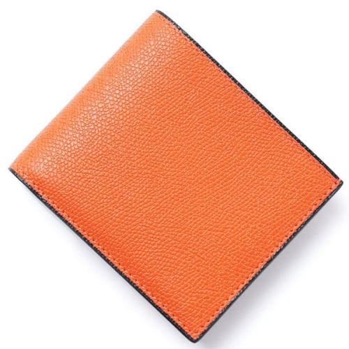 ヴァレクストラ スーパーコピー Valextra 2つ折り 財布 小銭入れ付き オレンジ