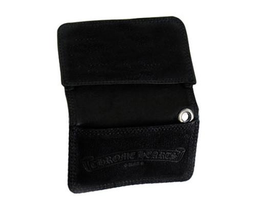 クロムハーツ 財布 コピーカードケース グロメット付き デストロイレザー