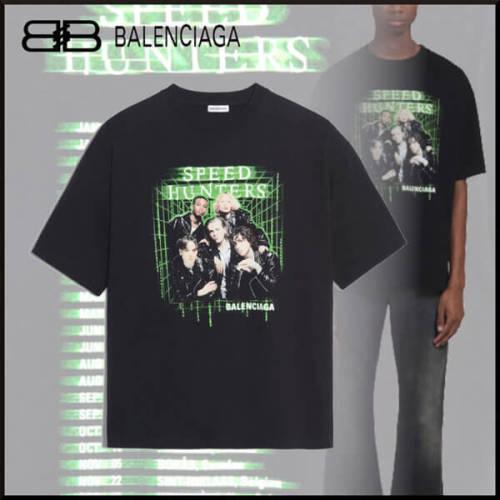 バレンシアガ tシャツ 偽物 BALENCIAGA SPEEDHUNTERS バンド ブラック