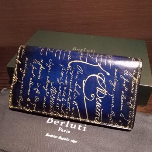 ベルルッティ財布 コピーBerluti Wスタンプx限定ゴールドパティーヌ希少品 ベルルッティ EBENE
