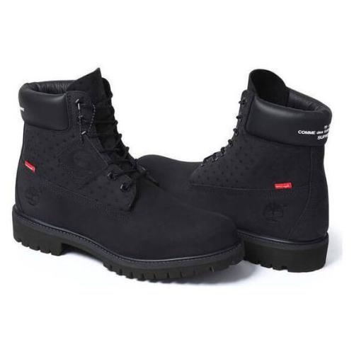 """シュプリーム 靴 偽物 Supreme Timberland 6"""" Boot x Comme des Garcons Black"""