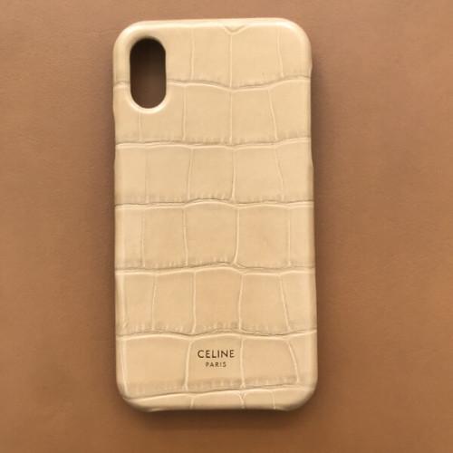 セリーヌ iphoneケース パロディ CELINE クロコダイル型押しレザー iPhone X/XSケース