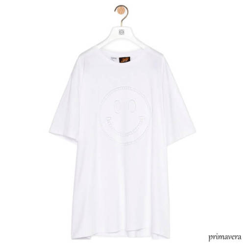 LOEWE ロエベ tシャツ 偽物 スマイル コットンTシャツ
