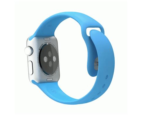 Apple Watch スーパーコピー38/42mmシルバーアルミニウムケースとブルースポーツバンド