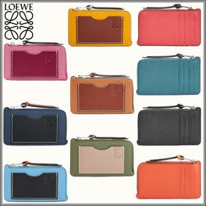【Loewe ロエベ カードケース コピー コインケース】ホルダー ソフト グレイン カーフスキン 124.12.U04