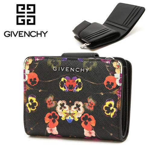 ジバンシー 財布コピーGIVENCHYフラワー財布 黒 ウォレット BC06363563 960 花柄