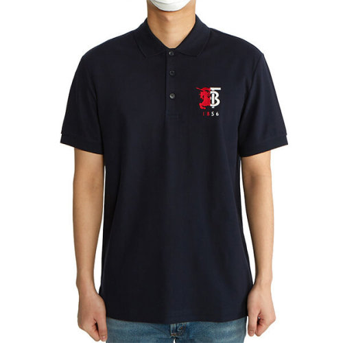 BURBERRY☆HALFORD バーバリー ポロシャツ コピー コントラストロゴ半袖ポロシャツ