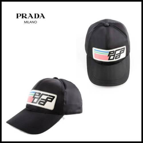 プラダ キャップスーパーコピーPRADA ロゴ キャップ SAFFIANO LOGO NYLON BASEBALL CAP_BLACK_68I-GFG017