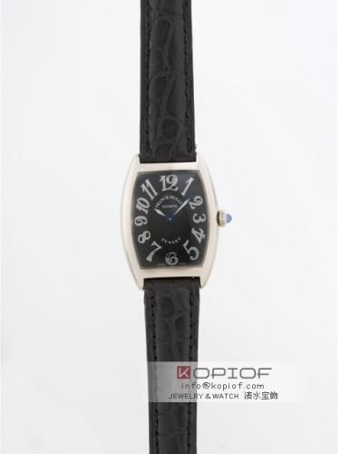 フランクミュラー トノーカーベックス スーパーコピー1752Q OG OG(WG) ブラック皮 ブラック