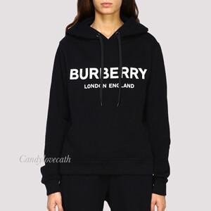 BURBERRY バーバリー トレーナー コピー ロゴプリント コットン オーバーサイズ フーディー
