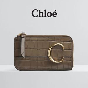 クロエ Chloe C クロコ型押しカード&コインケース☆コピーCHC19UP059A8723