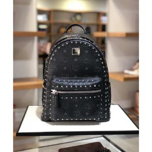 【MCMリュック コピー】エムシー エム Small スタッズ Backpack Black