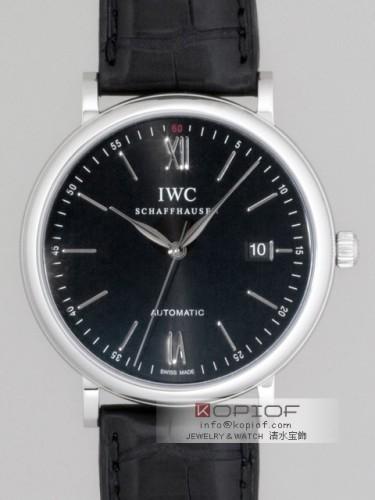 IWC スーパーコピーポートフィノ オートマティック IW356502 ブラック皮 ブラック