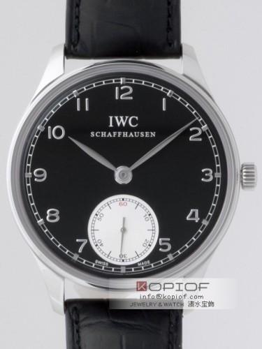 IWC ポルトギーゼ スーパーコピーIW545404 ハンドワインド ブラック/シルバー