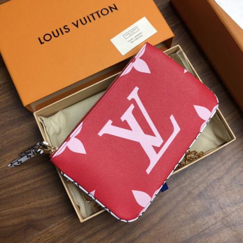 ルイビィトン フラワーモチーフ 夏の装 ポシェットドゥーブル ジップ M67561 ジャイアントジッピーウォレット 長財布 2つのファスナー付