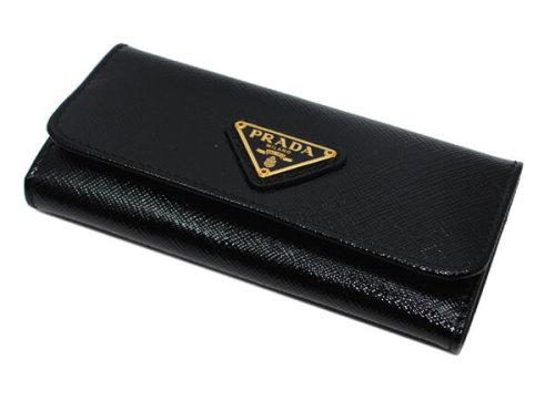 PRADA プラダキーケース コピー サフィアーノレザー6連キーケース ロング1M0223 R9250黒