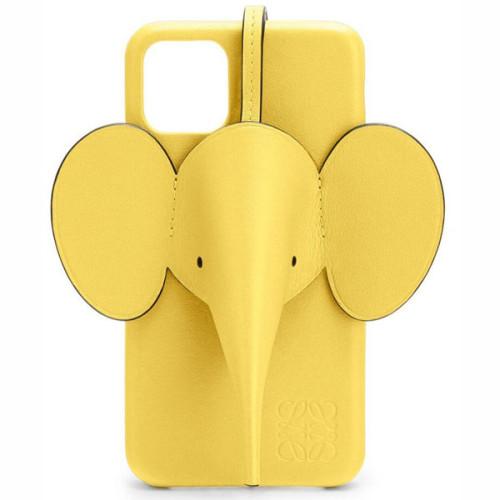 【LOEWE ロエベ iPhoneケース コピー】iPhone11ケース エレファント Elephant イエロー C719C80X0