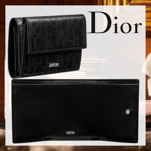 新作 Dior 3つ折りウォレット ギャラクシー 偽物 レザー