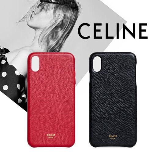 セリーヌ アイフォン ケース 偽物 CELINE IPHONE XS MAX CASE グレインドラムスキン