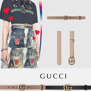 【人気】グッチ ベルト コピー Gucci★パールダブルG レザー ベルト