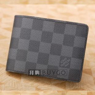 ルイヴィトン ダミエグラフィット 長財布スーパーコピールイヴィトン N63074 ダミエグラフィット ポルトフォイユ・フロリン メンズ用2つ折財布
