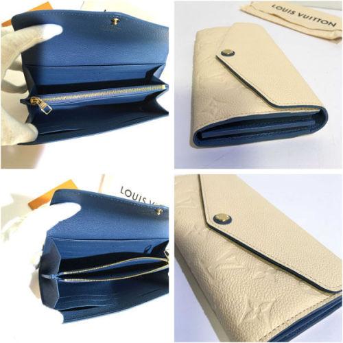 ルイヴィトン財布 ポルトフォイユサラ M63930 クレーム モノグラムアンプラントレザー カーフレザー