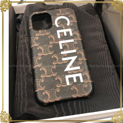 セリーヌ iphoneケース パロディ トリオンフ ロゴ iPhone11Pro 用ケース セリーヌ iPhone11Pro用ケース