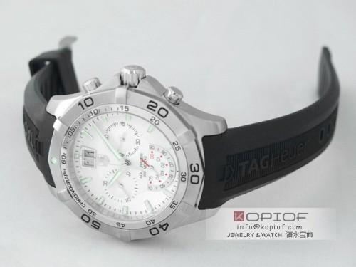 タグホイヤー アクアレーサー スーパーコピーCAF101B.FT8011 クロノグラフ グランドデイト シルバー