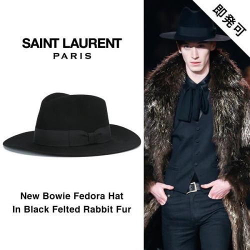 サンローラン 帽子コピー パリ ラビットファー フェドラハット 442145 Y3OS1 1000