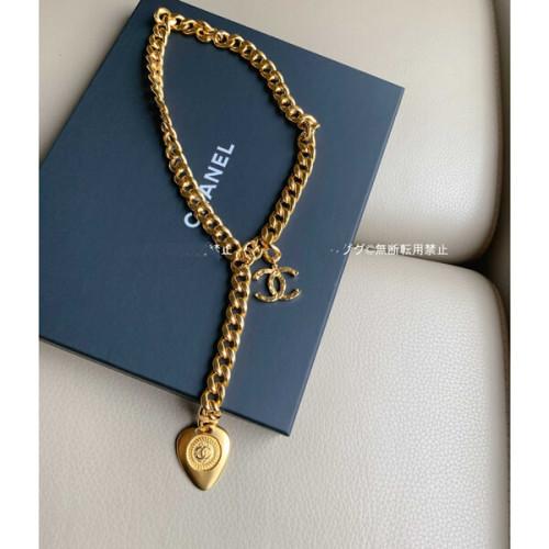 シャネル ネックレス 偽物CHANEL AB3380 ゴールドチェーン ペンダント ネックレス
