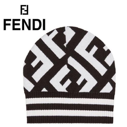 18AW 大注目!! フェンディ キャップ スーパーコピー FENDI 帽FF logo beanie