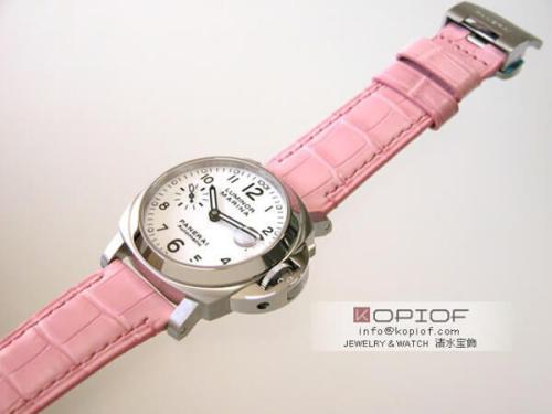 パネライ ルミノール スーパーコピーマリーナ PAM00049 40mm ピンク皮 ホワイト