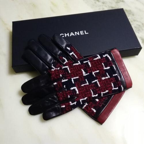 シャネル手袋スーパーコピーCHANEL 可愛いツイードxレザー グローブ