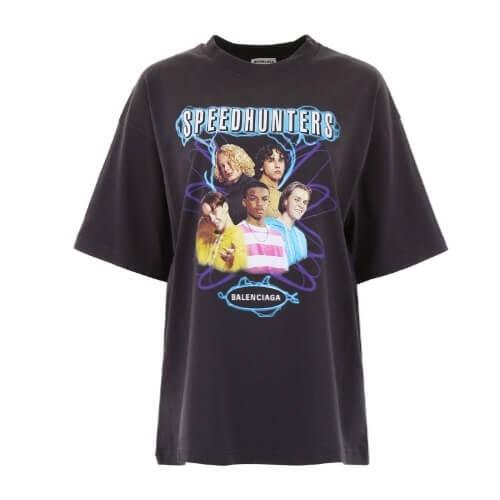 バレンシアガ Tシャツ コピーBALENCIAGA Speedhunters プリント コットンジャージーの541703 TCV38