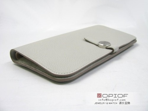エルメス ドゴン スーパーコピーニュードゴン 長財布 トゴ/グレーパール(金具:シルバー) hr205