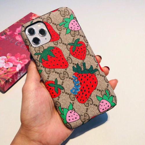 gucci iphoneケース コピー グッチ さくらんぼ 携帯ケース