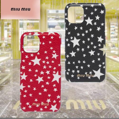 miumiu iphoneケース コピー 込星が可愛い MiuMiuマドラス IPHONE11PROケース