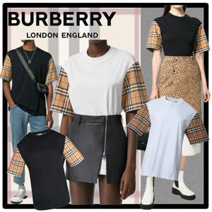 バーバリー Tシャツ コピー★BURBERRY★Vintage Check Detail Cotton T-shirt
