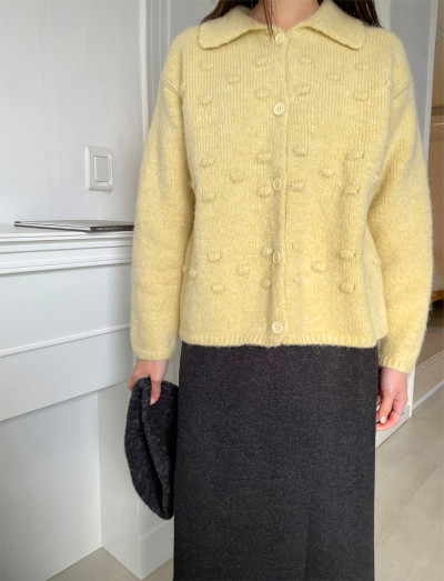 Back To You Collar Knit Cardigan