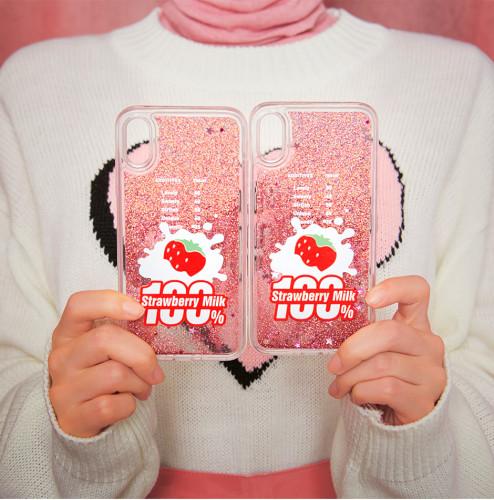 Strawberry Milk. Strawberry 100 Phone Case x 2
